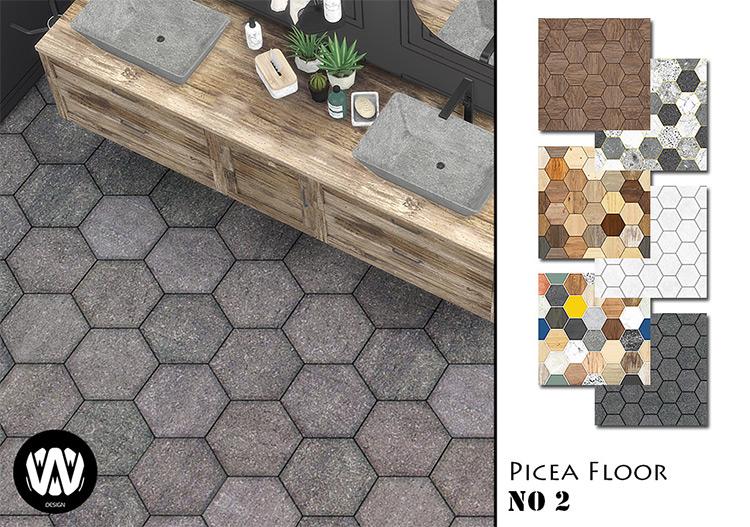 Picea Floor No.2 / Sims 4 CC