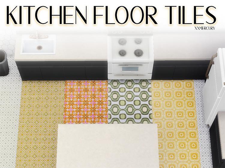 Vintage Kitchen Floor Tiles / Sims 4 CC