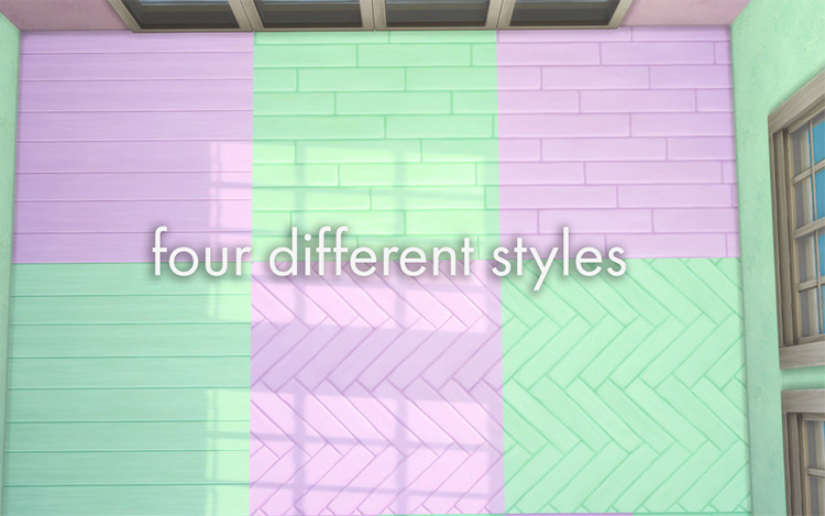 Pastel Wood Floors for The Sims 4