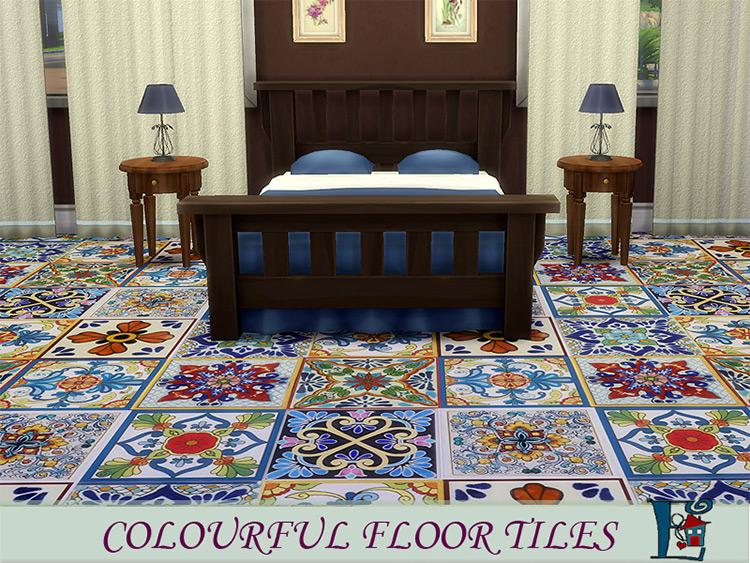 Colorful Floor Tiles / Sims 4 CC