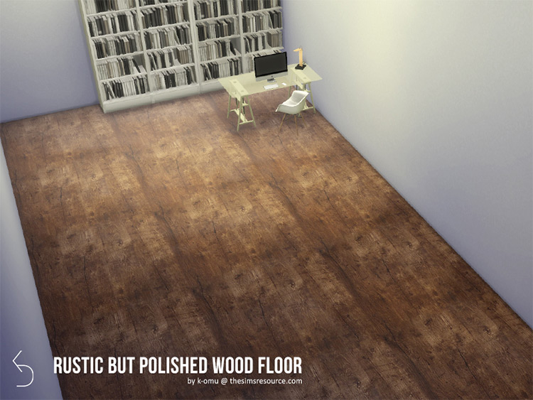 Rustic Wood Flooring CC for The Sims 4