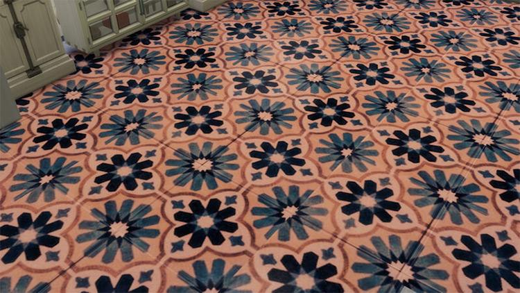 Geometric Floral Tiles / TS4 CC