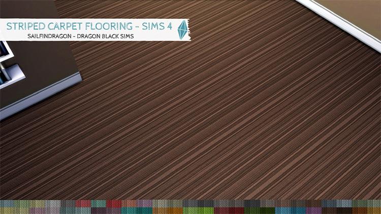 Striped Carpet Flooring / Sims 4 CC