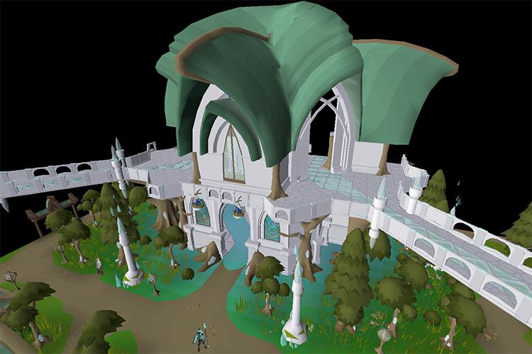 The City of Prifddinas in OSRS screenshot