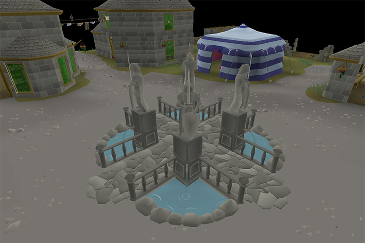 The City of Varrock in OSRS screenshot