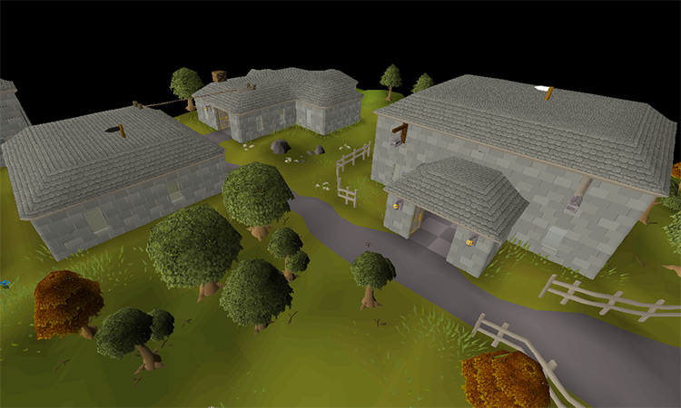The City of Seers' Village in OSRS screenshot