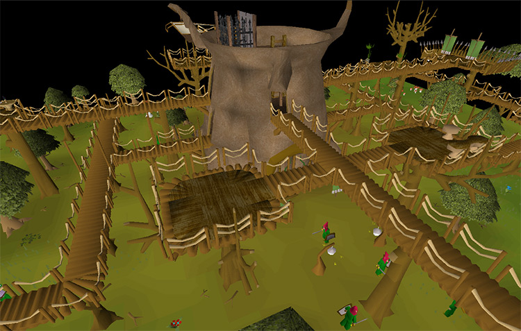The Tree Gnome Stronghold in OSRS screenshot