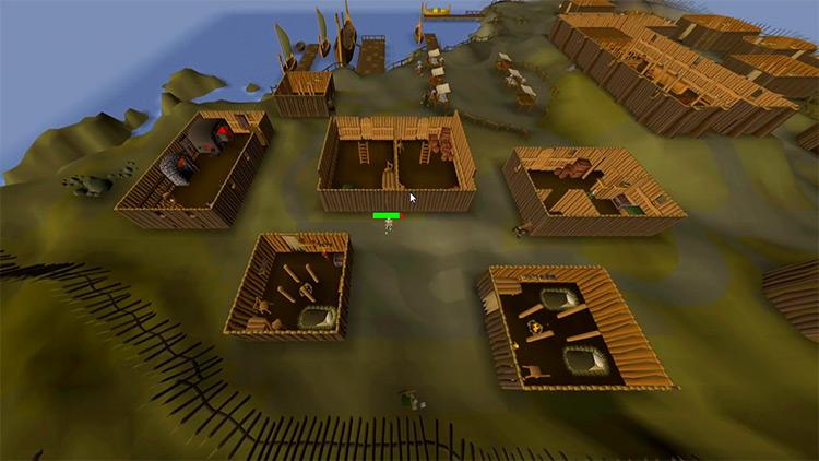 The City of Rellekka in OSRS screenshot