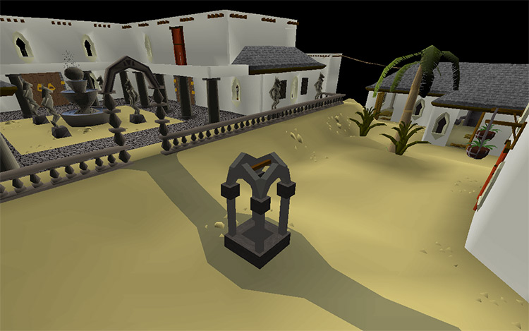 The City of Al Kharid in OSRS screenshot