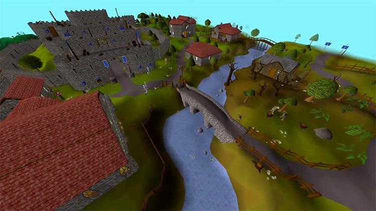 The City of Lumbridge in OSRS screenshot