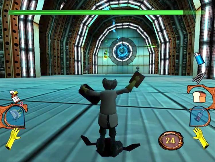 MDK2 Sega Dreamcast gameplay screenshot