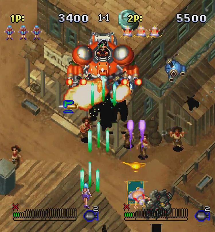 Gunbird 2 Sega Dreamcast gameplay screenshot