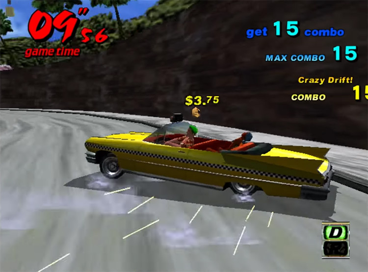 Crazy Taxi Dreamcast gameplay