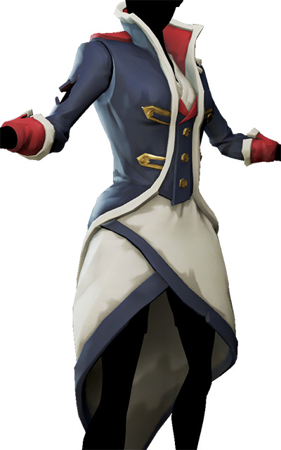 Distinguished Admiral Dress in Sea of Thieves