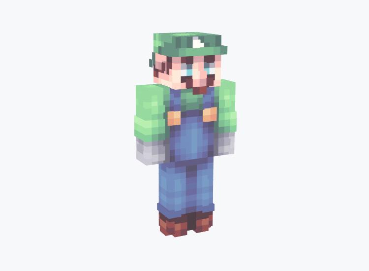 Modern HD Luigi From SMB / Minecraft Skin
