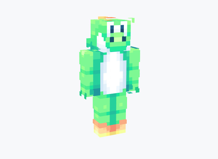 Bright Green Yoshi / Minecraft Skin