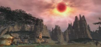 FFXIV Dalamud Moon in the sky