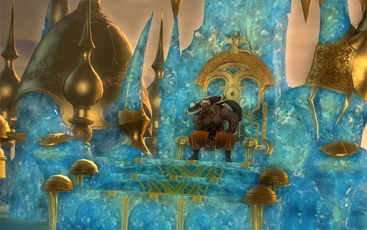 Xande on his throne in FFXIV
