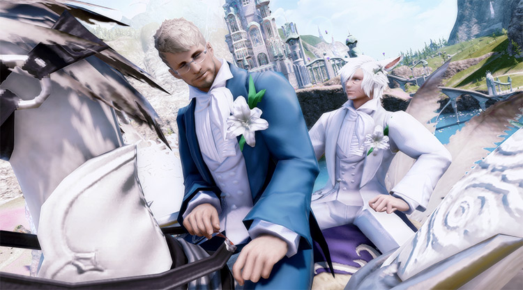 Gay Marriage Ceremony with Ceremony Chocobo Mount / FFXIV