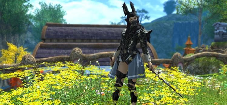 Gunmetal Black Assassin Vierra Character / FFXIV