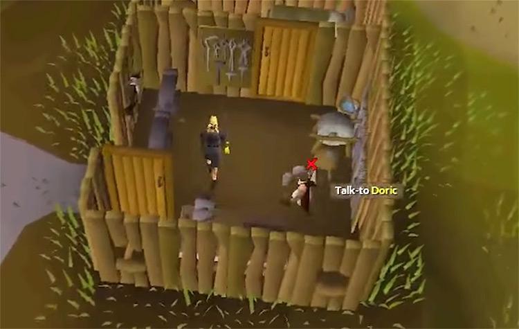 OSRS Doric's Quest gameplay screenshot