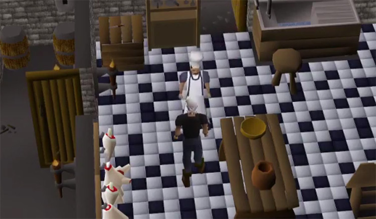 OSRS Cook's Assistant Quest gameplay screenshot