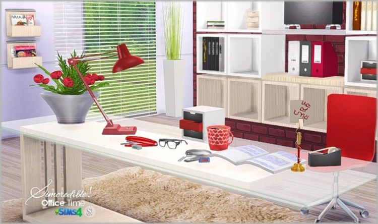 Office Time Clutter Set / Sims 4 CC