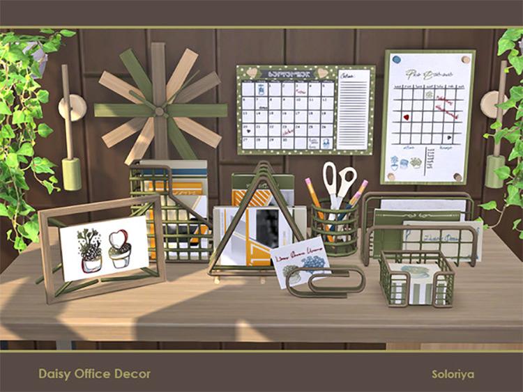 Daisy Office Clutter Set / TS4 CC