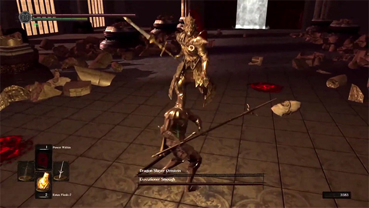 DS1 Remastered Silver Knight Spear gameplay screenshot