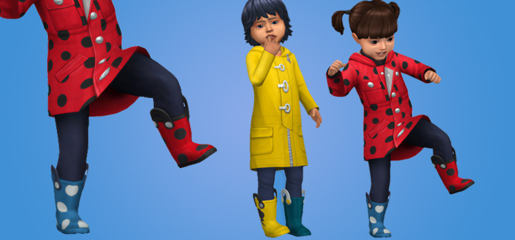 Mismatching Rain Boots Wellies For Toddlers / TS4