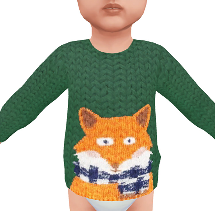 Toddler Fall Sweater Collection for The Sims 4