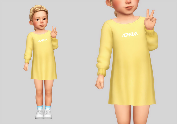 Long Sweater For Toddlers / Sims 4 CC