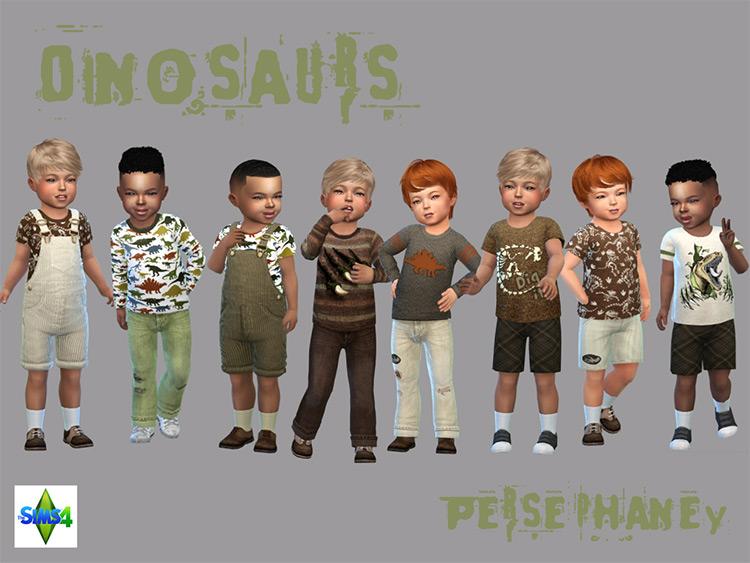 Dinosaur Clothes Set / TS4 CC