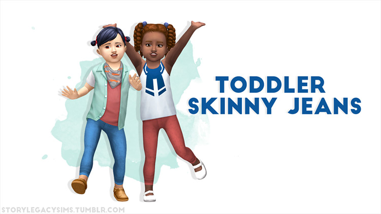 Toddler Skinny Jeans for The Sims 4