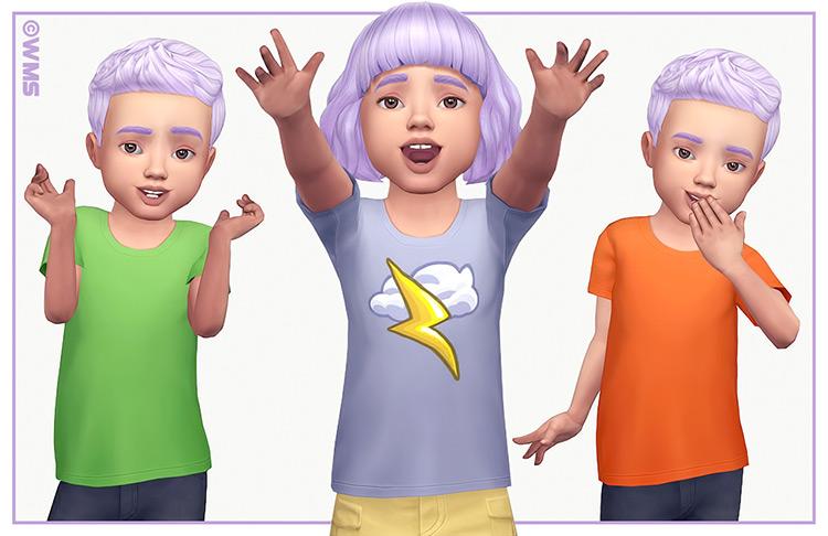 Toddler Tees Set / Sims 4 CC