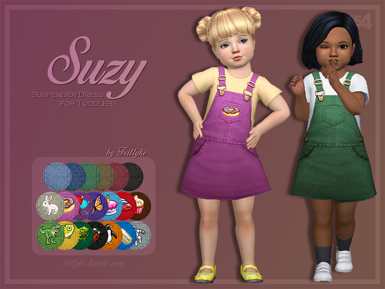 Suzy Suspender Dress / Sims 4 CC