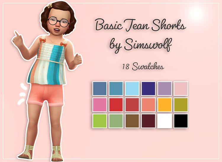 Basic Toddler Jean Shorts / TS4 CC