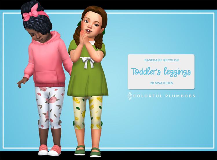 Toddler's Leggings / Sims 4 CC