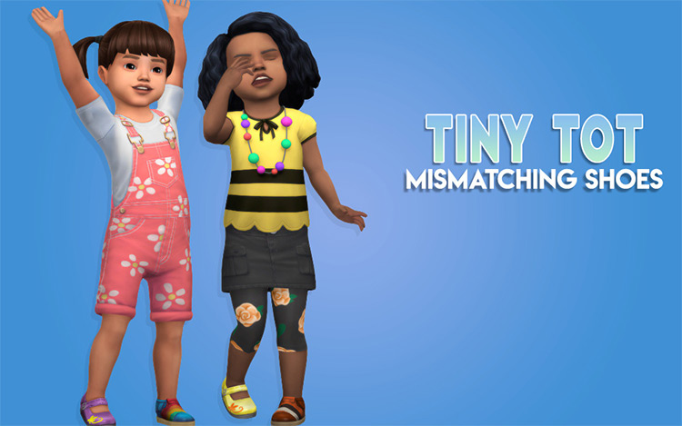 Mismatching Wellies & Shoes for The Sims 4