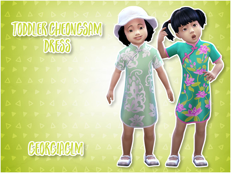 Toddler Cheongsam Dress / Sims 4 CC