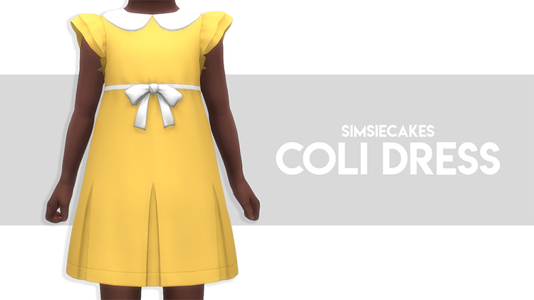 Coli Dress For Toddlers / TS4 CC