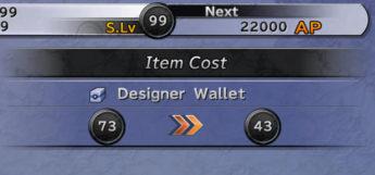 Designer Wallet Item Customization in Final Fantasy X HD