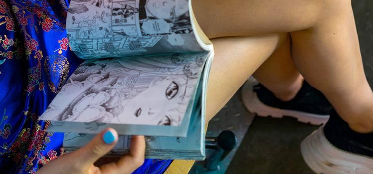 Girl Reading a Manga