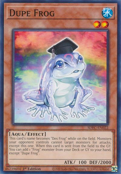 Dupe Frog Yu-Gi-Oh! Card