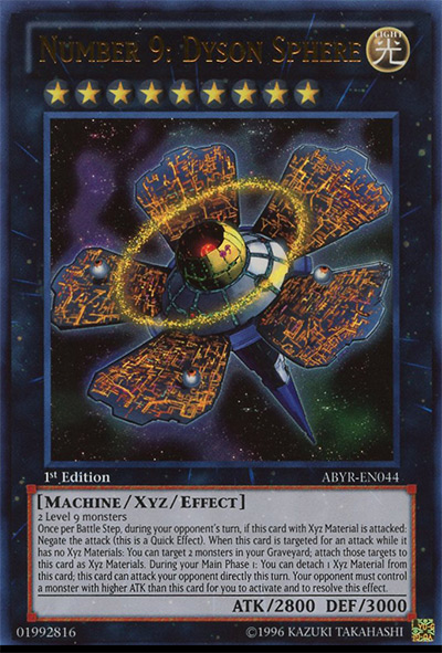 Number 9: Dyson Sphere Yu-Gi-Oh! Card