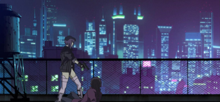 Ghost in the Shell SAC Movie Screenshot with Cyberpunk Vibes