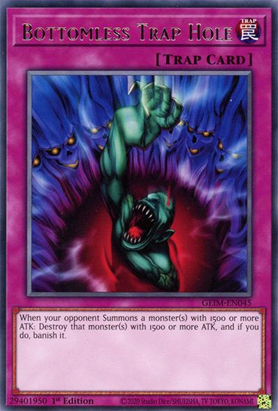 Bottomless Trap Hole Yu-Gi-Oh! Card