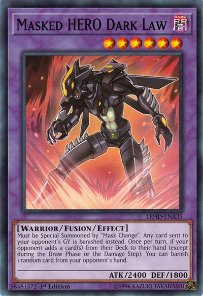 Masked HERO Dark Law Yu-Gi-Oh! Card