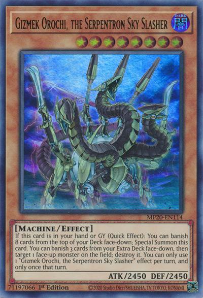 Gizmek Orochi, the Serpentron Sky Slasher Yu-Gi-Oh! Card