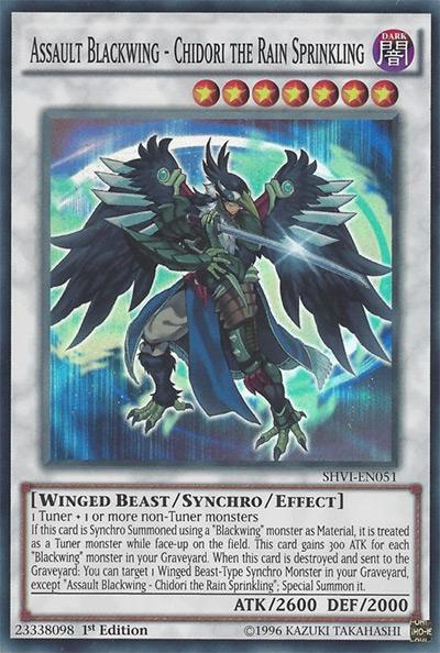 Assault Blackwing – Chidori the Rain Sprinkling Yu-Gi-Oh! Card